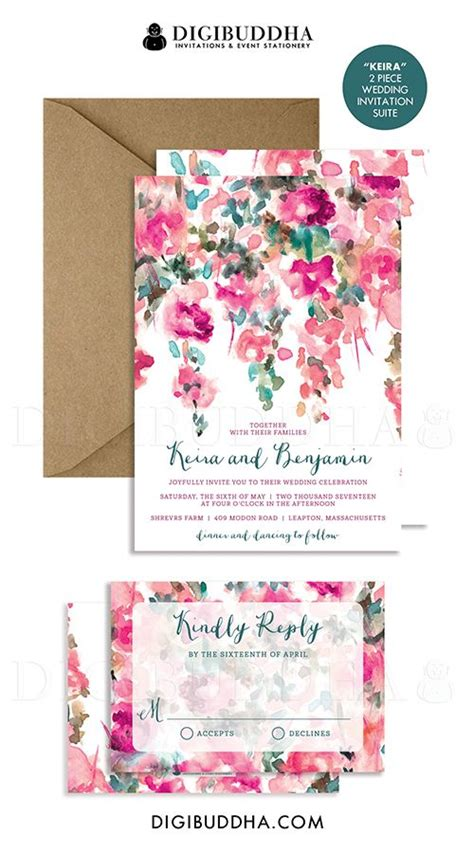 Wedding Invitation Cards Kandy by Watercolor Flowers Wedding Invitation Rsvp Whimsical