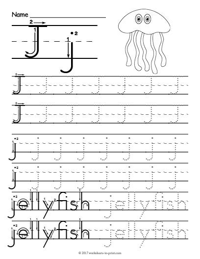 Letter J Worksheets by Tracing Letter J Worksheet