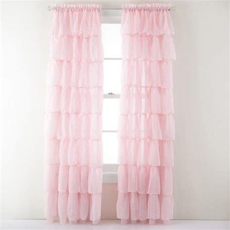 Pink Ruffle Curtains Lorraine Home Fashions Shabby Chic Layered Ruffle Window Curtain Panel 60 By 63 Inch