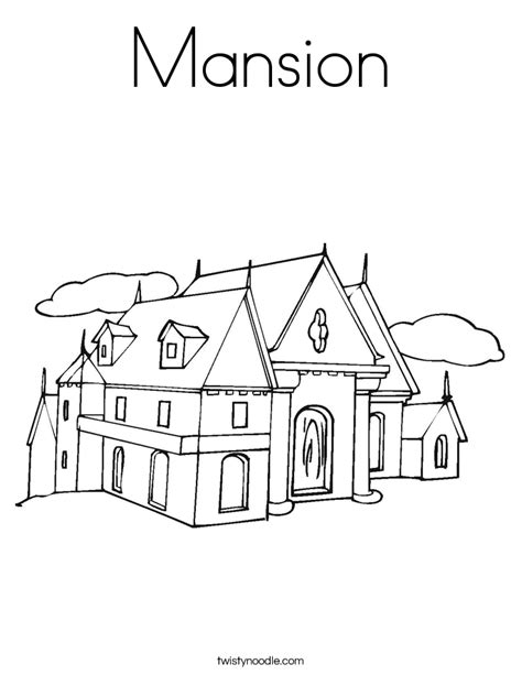 mansion house coloring pages mansion coloring page twisty noodle