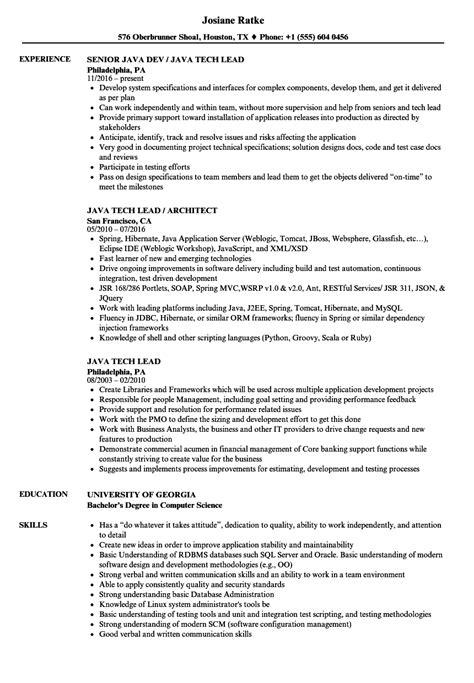 sle resume for java tech lead java tech lead resume sles velvet