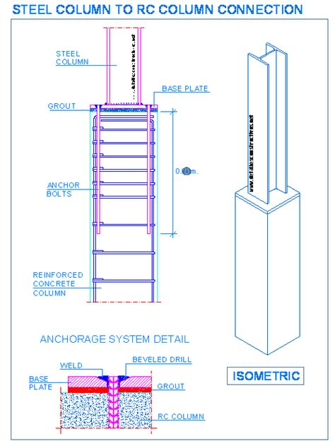 steel column section detallesconstructivos net construction details cad blocks