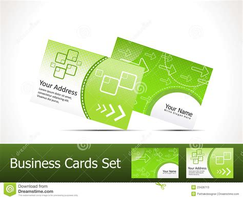 green business card template abstract green business card template stock photos image