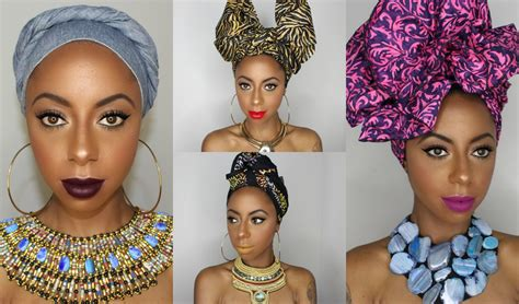 quick easy artistic ways  tie african head wrap styles
