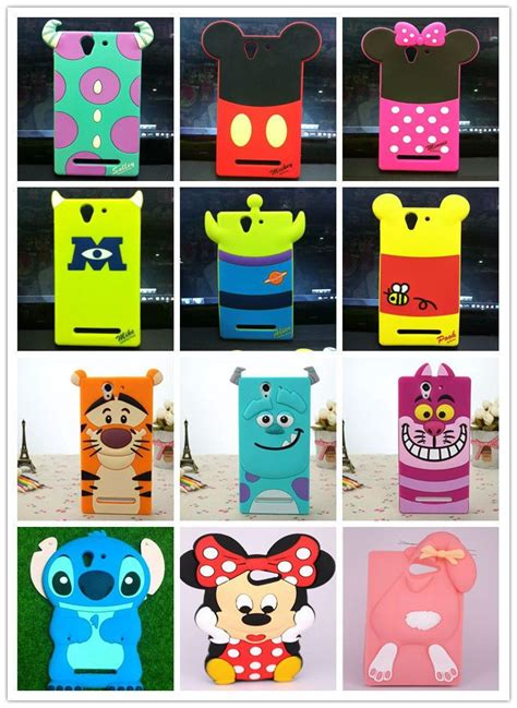 Disney All Character Iphone Ipod Htc Xperia Samsung 2 for sony xperia m2 c3 soft silicone disney animal phone cover