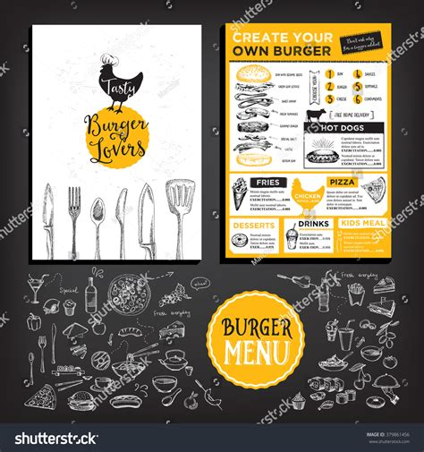 Cafe Brochure Design by Restaurant Brochure Vector Menu Design Vector Stock Vector