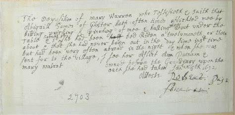 Salem Court Records Manuscripts
