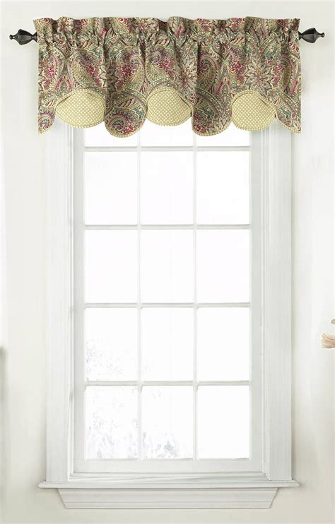 waverly curtains and valances waverly swept away layered valance waverly curtains