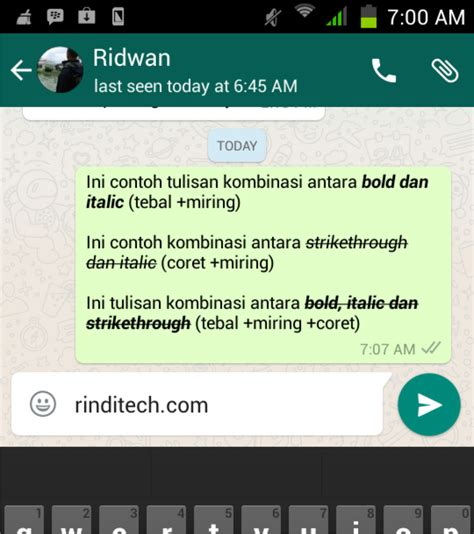 membuat huruf tebal di whatsapp cara membuat tulisan tebal miring coret bahkan kombinasi