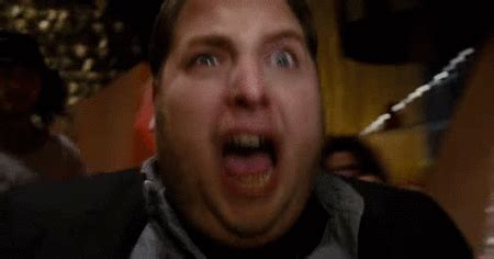 motorboat face gif scared jonah hill gif find share on giphy