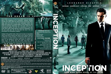 inception dvd high quality front dvd cover