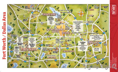 map of fort worth dallas fort worth map tourist attractions holidaymapq
