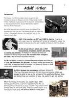 biography hitler ks2 worksheet hitler timeline info sheet doc 484 kb
