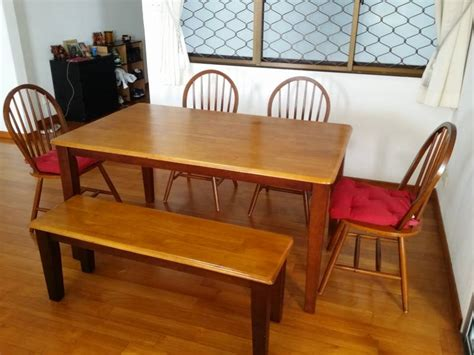 dining set with bench singapore courts dining table set 4 chairs and a bench singapore