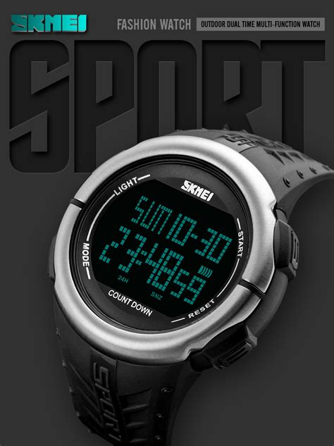 Jam Swiss Army Asj02 Green skmei jam tangan digital sporty pria 1286 army green jakartanotebook