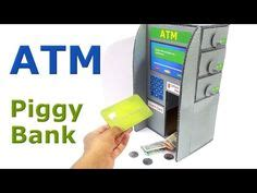 lego atm tutorial how to make piggy bank atm machine at home diy craft for