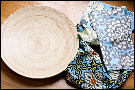 Decoupage Fabric On Wood - diy decoupage wood bowl a gathering