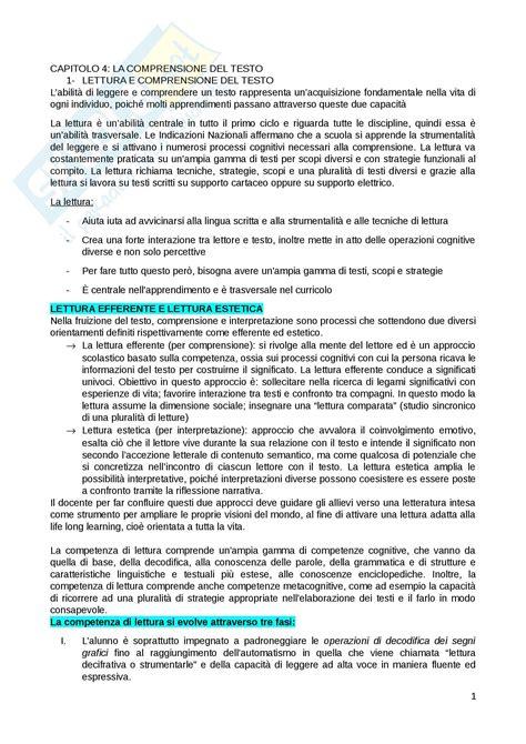 riassunto testo riassunto per esame di didattica testo e didattica