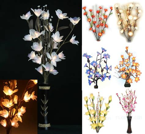 Flowers With Lights In Vase by Gorgeous Flower Bouquet Led Lights Tree Branch Vase