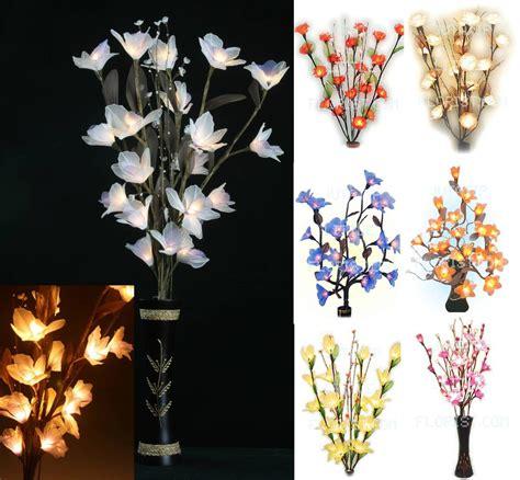 Flower Lights In Vase by Gorgeous Flower Bouquet Led Lights Tree Branch Vase