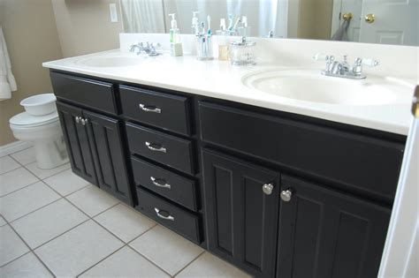 paint bathroom cabinets black design gal her handyman bathroom projects a new job