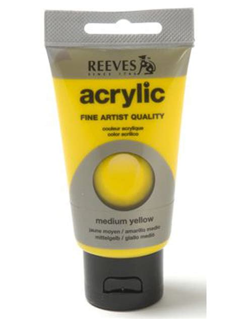 acrylic paint papertree reeves acrylic paint medium yellow