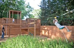 Build secure zip line for your kids dimension zip lines