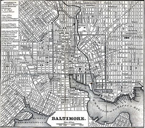 baltimore city map maryland maps perry casta 241 eda map collection ut library