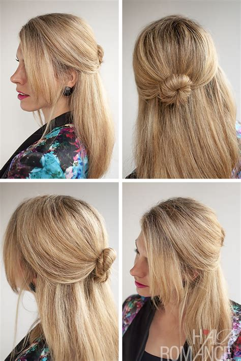 hairstyles to keep curly hair out of face 30 buns in 30 days day 5 half up bun hairstyle hair