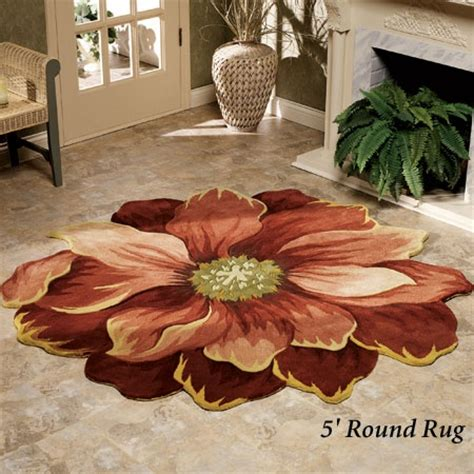 Rugs Shaped Like Flowers by Maeli Sculpted Flower Shaped Rugs Home Stuff