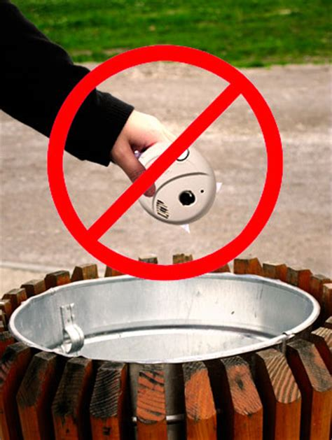home smoke detector disposal how to