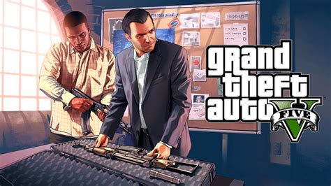 Grand Theft Auto 5 by New Grand Theft Auto 5 Artwork Shows Protagonists And