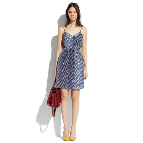 Dress Of The Day Silk Cami Dress by Madewell Silk Waveform Cami Dress In Blue Lyst