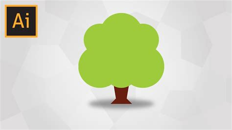 vector tree tutorial how to draw a simple tree in adobe illustrator youtube