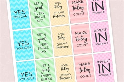 printable motivational stickers free printable motivational gym fitness planner stickers