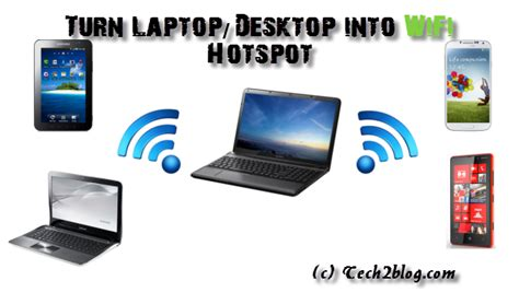 How to Turn your Laptop into WiFi Hotspot   Share Internet