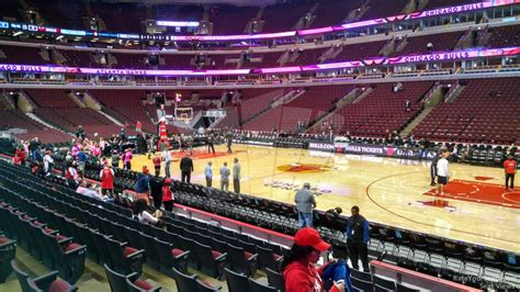 section 111 united center united center section 110 chicago bulls rateyourseats com