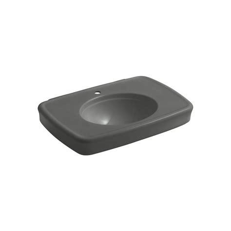 kohler bancroft pedestal sink kohler bancroft 8 11 16 in ceramic pedestal sink basin in