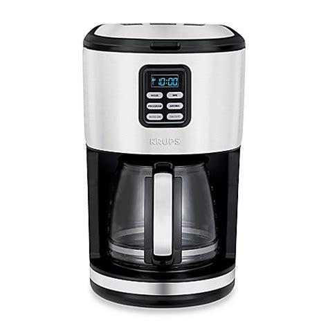 krups coffee maker krups 174 12 cup stainless steel filter coffee maker bed bath beyond
