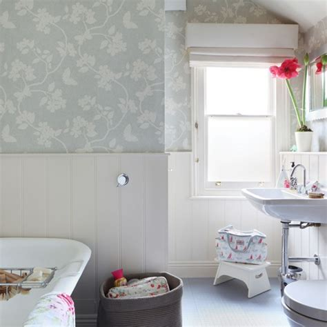 bathroom wallpaper ideas uk soft grey country bathroom bathroom design housetohome