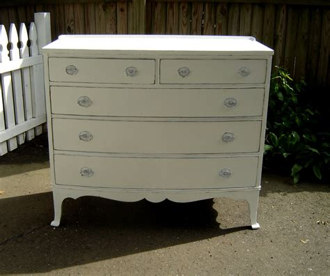 antique white dresser shabby chic painted by