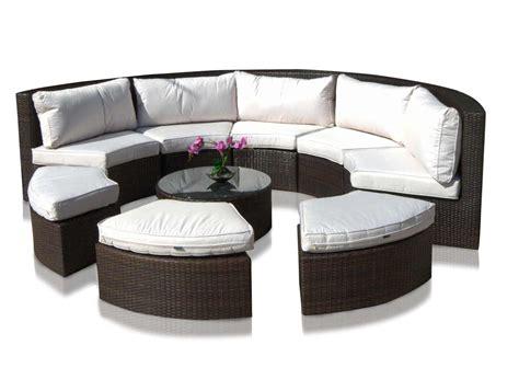 divani per giardino in rattan salotto divano circolare componibile in rattan sintetico mar