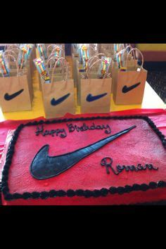 nike  day party ideas  pinterest nike basketball basketball cakes  nike basketball shoes