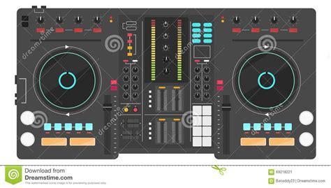 dj console design dj console stock vector image 69218221