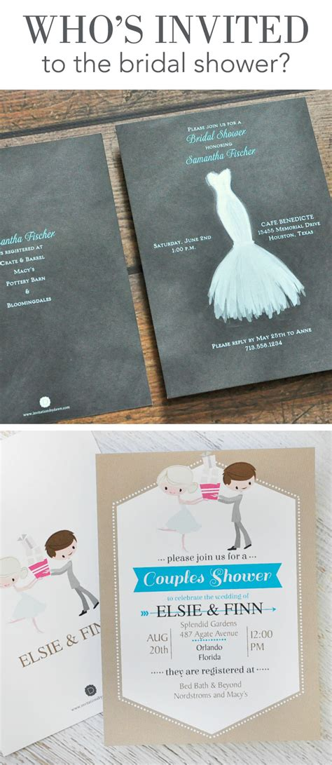 Who Gets Invited To The Bridal Shower by Who S Invited To The Bridal Shower Invitations By