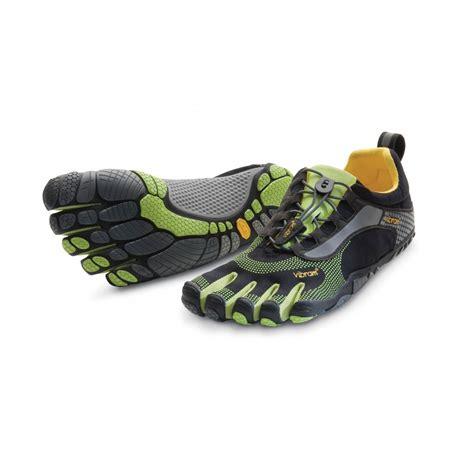 running shoes vibram vibram fivefingers mens bikila ls black green running