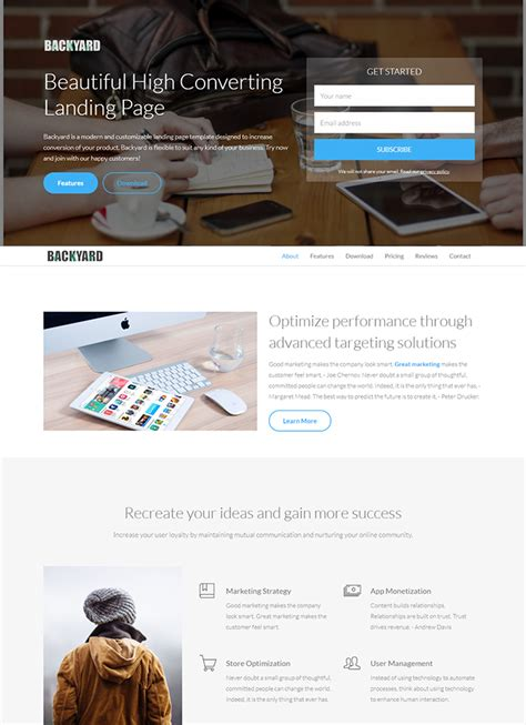20 Free Html Landing Page Templates Built With Html5 And Bootstrap 3 Html Landing Page Templates Free