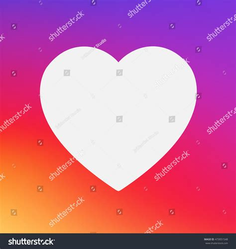 heart layout app heart symbol app icon on smooth stock vector 473051548