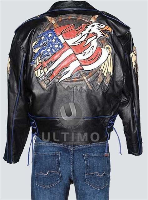 Jacket Design Back | flag leather jacket design on back