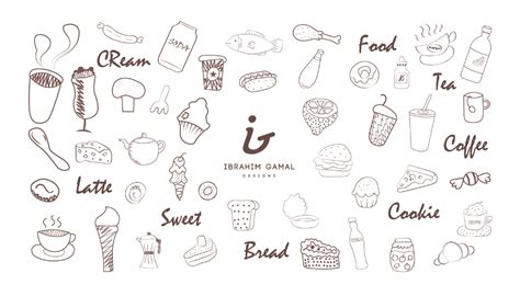 doodle food vector free free food vector doodles free design resources